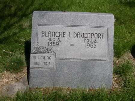 DAVENPORT, BLANCH L. - Dawes County, Nebraska   BLANCH L. DAVENPORT - Nebraska Gravestone Photos