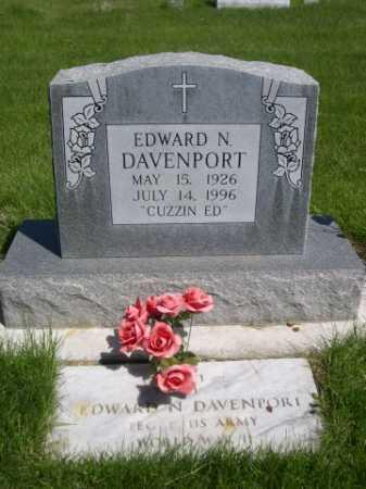 DAVENPORT, EDWARD N. - Dawes County, Nebraska   EDWARD N. DAVENPORT - Nebraska Gravestone Photos