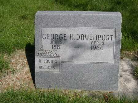 DAVENPORT, GEORGE H. - Dawes County, Nebraska | GEORGE H. DAVENPORT - Nebraska Gravestone Photos