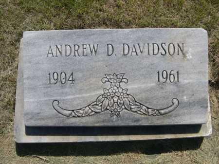 DAVIDSON, ANDREW D. - Dawes County, Nebraska | ANDREW D. DAVIDSON - Nebraska Gravestone Photos