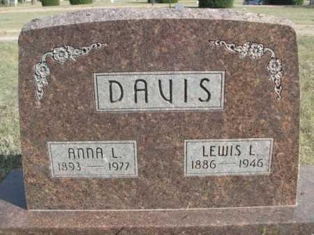 DAVIS, LEWIS L. - Dawes County, Nebraska | LEWIS L. DAVIS - Nebraska Gravestone Photos