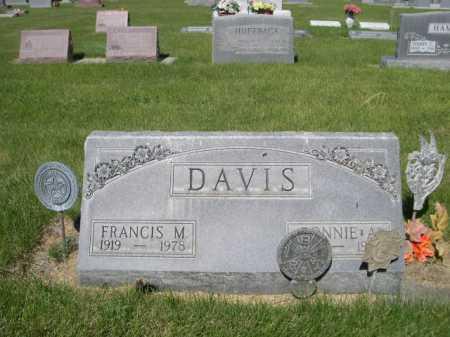 DAVIS, FRANCIS M. - Dawes County, Nebraska | FRANCIS M. DAVIS - Nebraska Gravestone Photos