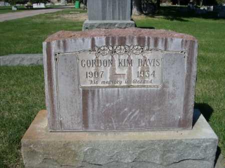 DAVIS, GORDON KIM - Dawes County, Nebraska | GORDON KIM DAVIS - Nebraska Gravestone Photos