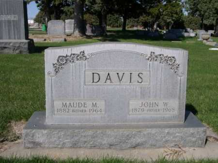 DAVIS, MAUDE M. - Dawes County, Nebraska | MAUDE M. DAVIS - Nebraska Gravestone Photos