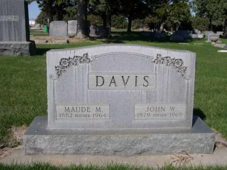 DAVIS, JOHN W. - Dawes County, Nebraska | JOHN W. DAVIS - Nebraska Gravestone Photos