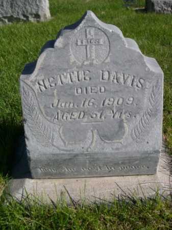 DAVIS, NETTIE - Dawes County, Nebraska | NETTIE DAVIS - Nebraska Gravestone Photos
