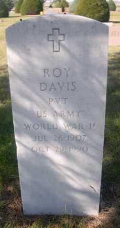 DAVIS, ROY - Dawes County, Nebraska | ROY DAVIS - Nebraska Gravestone Photos