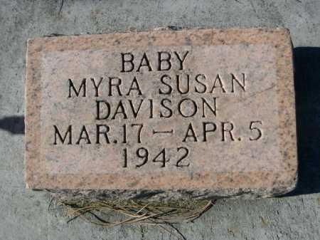 DAVISON, MYRA SUSAN - Dawes County, Nebraska   MYRA SUSAN DAVISON - Nebraska Gravestone Photos