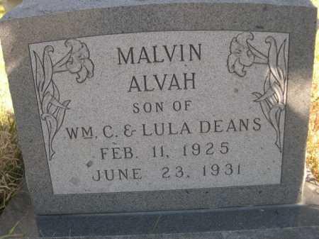 DEANS, MALVIN ALVAH - Dawes County, Nebraska | MALVIN ALVAH DEANS - Nebraska Gravestone Photos