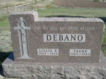 DEBANO, FRANK - Dawes County, Nebraska | FRANK DEBANO - Nebraska Gravestone Photos