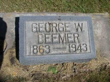 DEEMER, GEORGE W. - Dawes County, Nebraska | GEORGE W. DEEMER - Nebraska Gravestone Photos