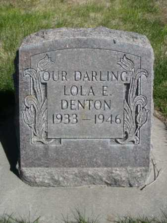 DENTON, LOLA E. - Dawes County, Nebraska | LOLA E. DENTON - Nebraska Gravestone Photos