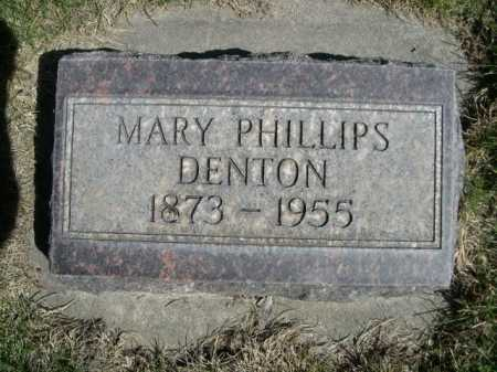 DENTON, MARY PHILLIPS - Dawes County, Nebraska | MARY PHILLIPS DENTON - Nebraska Gravestone Photos