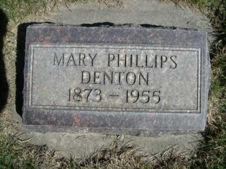 DENTON, MARY PHILLIPS - Dawes County, Nebraska | MARY PHILLIPS DENTON - Nebraska Gravestone Photos