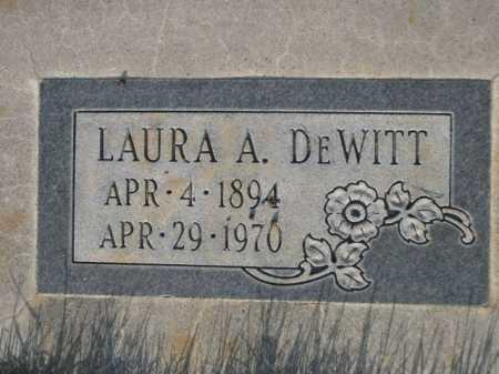 DEWITT, LAURA A. - Dawes County, Nebraska | LAURA A. DEWITT - Nebraska Gravestone Photos