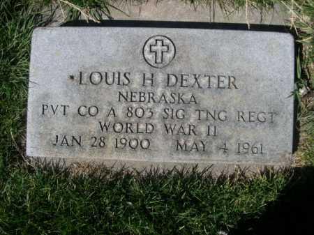 DEXTER, LOUIS H. - Dawes County, Nebraska | LOUIS H. DEXTER - Nebraska Gravestone Photos