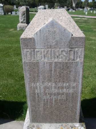 DICKINSON, MELISSA - Dawes County, Nebraska | MELISSA DICKINSON - Nebraska Gravestone Photos