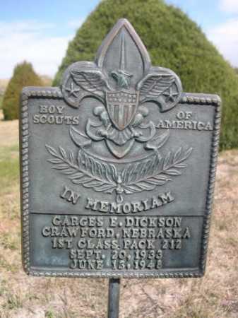 DICKSON, GARGES E. - Dawes County, Nebraska | GARGES E. DICKSON - Nebraska Gravestone Photos
