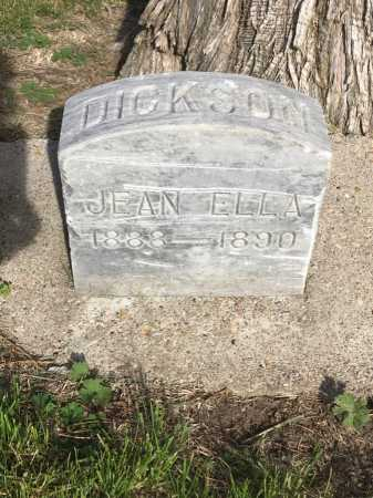 DICKSON, JEAN ELLA - Dawes County, Nebraska | JEAN ELLA DICKSON - Nebraska Gravestone Photos