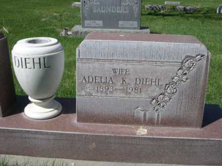 DIEHL, ADELIA K. - Dawes County, Nebraska | ADELIA K. DIEHL - Nebraska Gravestone Photos