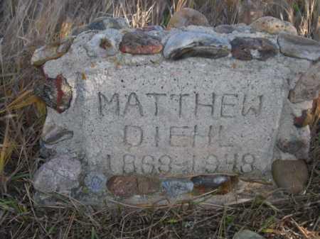 DIEHL, MATTHEW - Dawes County, Nebraska | MATTHEW DIEHL - Nebraska Gravestone Photos