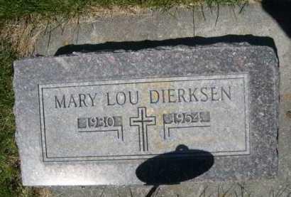 DIERKSEN, MARY LOU - Dawes County, Nebraska | MARY LOU DIERKSEN - Nebraska Gravestone Photos