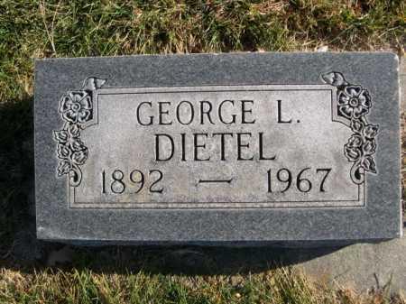DIETEL, GEORGE L. - Dawes County, Nebraska   GEORGE L. DIETEL - Nebraska Gravestone Photos