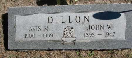 DILLON, JOHN W. - Dawes County, Nebraska   JOHN W. DILLON - Nebraska Gravestone Photos