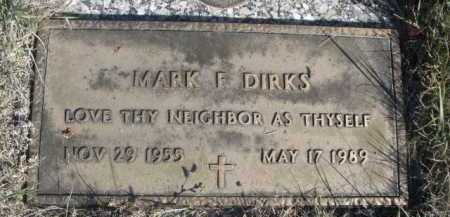 DIRKS, MARK F. - Dawes County, Nebraska   MARK F. DIRKS - Nebraska Gravestone Photos