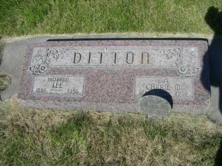 DITTON, CARRIE M. - Dawes County, Nebraska | CARRIE M. DITTON - Nebraska Gravestone Photos