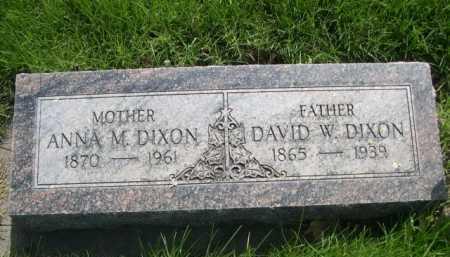 DIXON, ANNA M - Dawes County, Nebraska | ANNA M DIXON - Nebraska Gravestone Photos