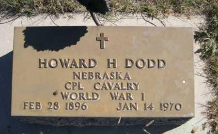 DODD, HOWARD H. - Dawes County, Nebraska | HOWARD H. DODD - Nebraska Gravestone Photos