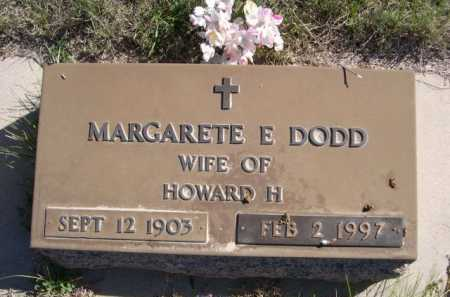 DODD, MARGARETE - Dawes County, Nebraska | MARGARETE DODD - Nebraska Gravestone Photos