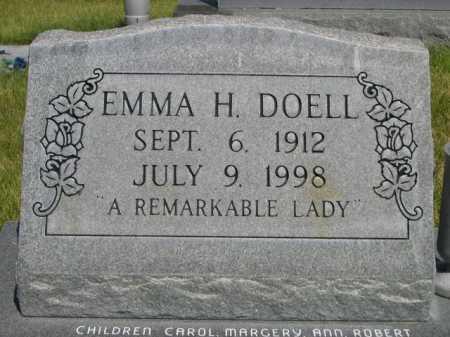 DOELL, EMMA H. - Dawes County, Nebraska | EMMA H. DOELL - Nebraska Gravestone Photos