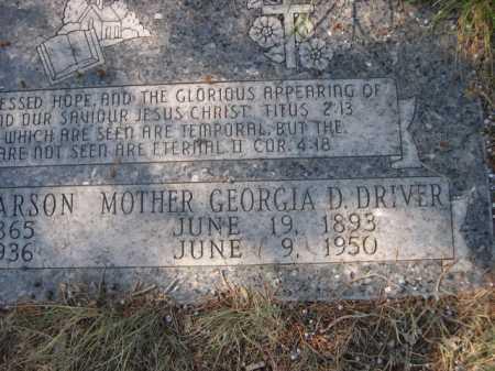 DRIVER, GEORGIA D. - Dawes County, Nebraska | GEORGIA D. DRIVER - Nebraska Gravestone Photos