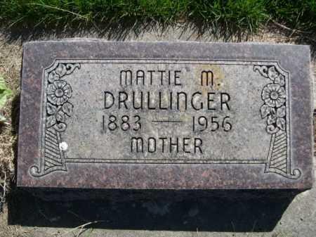 DRULLINGER, MATTIE M. - Dawes County, Nebraska | MATTIE M. DRULLINGER - Nebraska Gravestone Photos