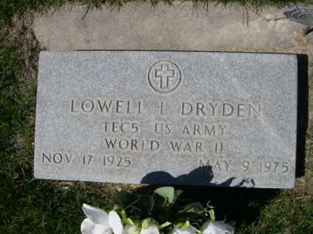 DRYDEN, LOWELL I - Dawes County, Nebraska | LOWELL I DRYDEN - Nebraska Gravestone Photos