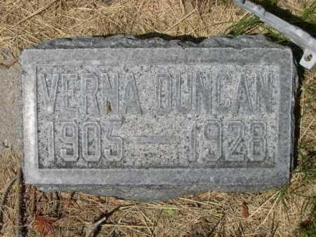 DUNCAN, VERNA - Dawes County, Nebraska | VERNA DUNCAN - Nebraska Gravestone Photos