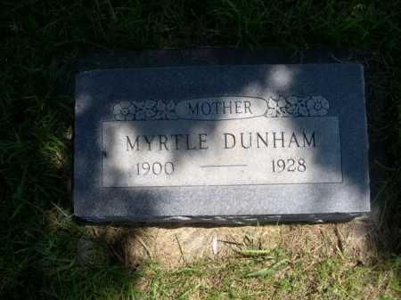 DUNHAM, MYRTLE - Dawes County, Nebraska | MYRTLE DUNHAM - Nebraska Gravestone Photos
