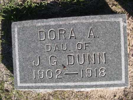 DUNN, DORA A. - Dawes County, Nebraska | DORA A. DUNN - Nebraska Gravestone Photos