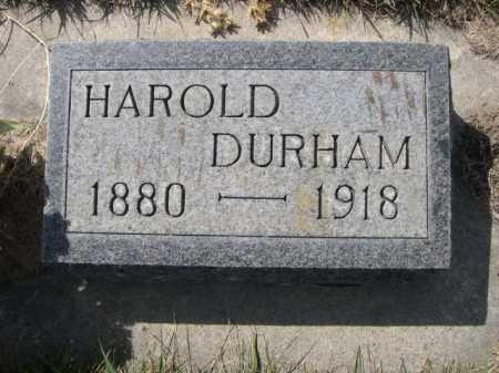 DURHAM, HAROLD - Dawes County, Nebraska | HAROLD DURHAM - Nebraska Gravestone Photos