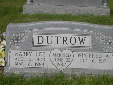 DUTROW, HARRY LEE - Dawes County, Nebraska   HARRY LEE DUTROW - Nebraska Gravestone Photos