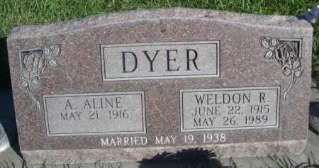 DYER, A. ALLINE - Dawes County, Nebraska | A. ALLINE DYER - Nebraska Gravestone Photos