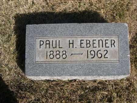 EBENER, PAUL H. - Dawes County, Nebraska | PAUL H. EBENER - Nebraska Gravestone Photos