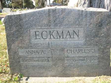 ECKMAN, CHARLES J. - Dawes County, Nebraska   CHARLES J. ECKMAN - Nebraska Gravestone Photos