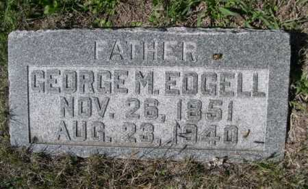 EDGELL, GEORGE M. - Dawes County, Nebraska | GEORGE M. EDGELL - Nebraska Gravestone Photos
