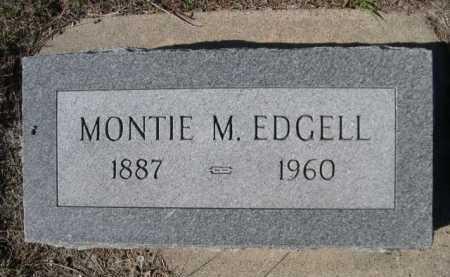 EDGELL, MONTIE M. - Dawes County, Nebraska | MONTIE M. EDGELL - Nebraska Gravestone Photos