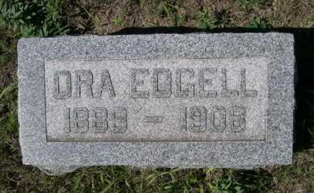 EDGELL, ORA - Dawes County, Nebraska   ORA EDGELL - Nebraska Gravestone Photos