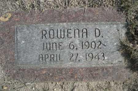 EDGELL, ROWENA D. - Dawes County, Nebraska | ROWENA D. EDGELL - Nebraska Gravestone Photos