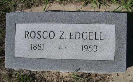 EDGELL, ROSCO Z. - Dawes County, Nebraska | ROSCO Z. EDGELL - Nebraska Gravestone Photos